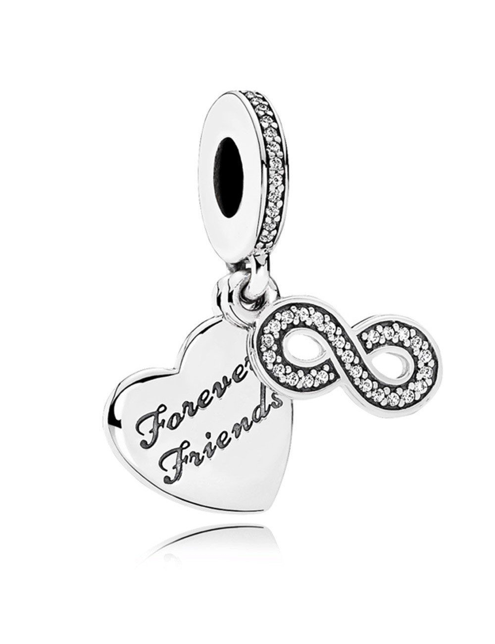 16bd8474f6d1 Comprar Pandora Prata Charme Amigos Para Sempre