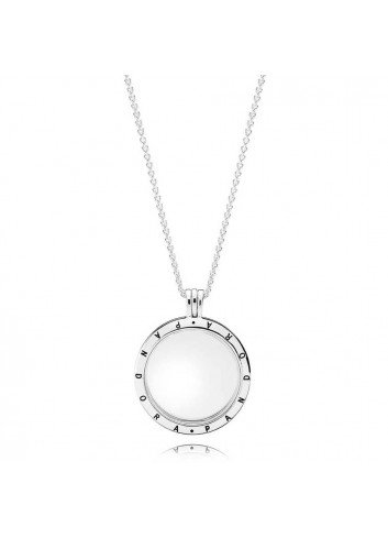 PANDORA COLLAR PLATA LOCKET CRISTAL