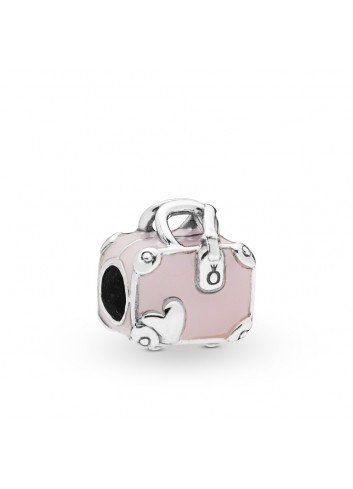 "PANDORA CHARM PLATA MALETA ""LOVE TRAVELS"""