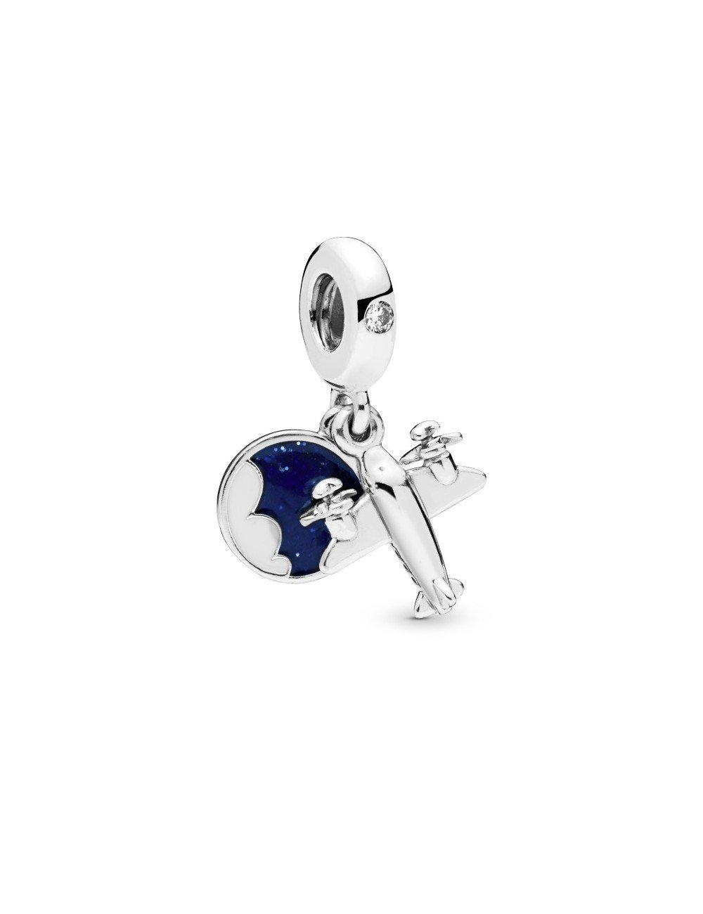 Shop Now Pandora Charm Colgante Silver Avioneta To Travel Is To Live Sam Parfums