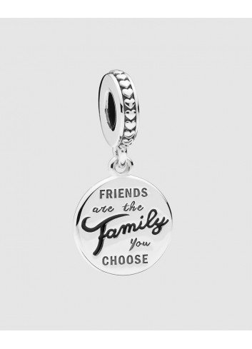 PANDORA CHARM PLATA FRIENDS ARE THE FAMILY YOU CHOOSE
